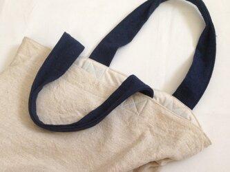 インド綿の大きめトートバッグの画像