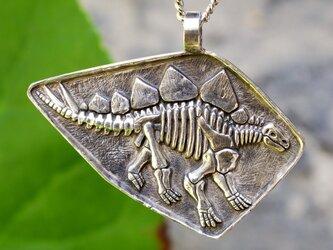 Sv 恐竜シリーズ 『Noー3』 ステゴサウルス全身骨格 ペンダントネックレスの画像