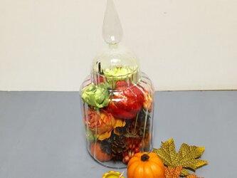 キャンディグラスのアレンジメント*ハロウィンの画像