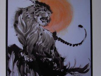 夕日の虎の画像