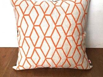 ヴィンテージ生地クッションカバー( Swedish Linen Orange) の画像