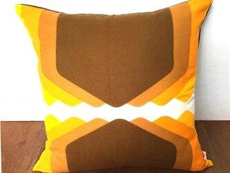 ヴィンテージ生地クッションカバー(Hillock  Orange)の画像