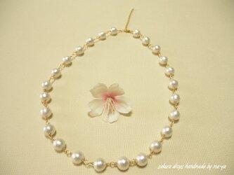 【再販】コットンパールのネックレスの画像