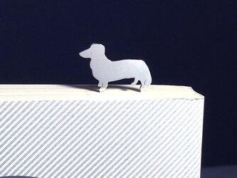 Dog-BookMark-18 ミニチュアダックス シルバー ブックマーク しおりの画像