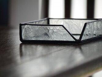 【yさまオーダー品】ステンドグラストレイ 羽根8点の画像