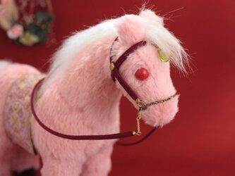 ぬいぐるみ 馬 - ピンクの画像
