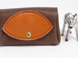万能な小財布★手に馴染む柔らかい茶④★お札からカードまで(6917)の画像