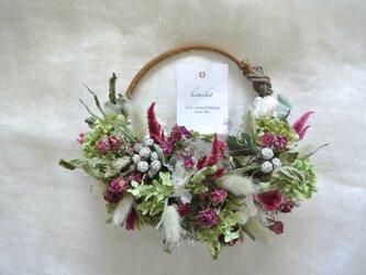 hanging basket wreath.rkの画像