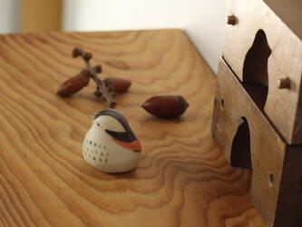 【暦鳥・秋】つぐみ 国産ヒノキの木箱入り※受注制作の画像