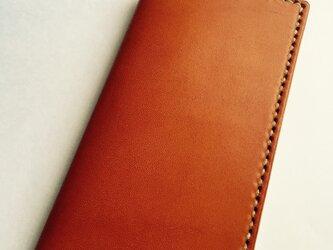 革のiphone7plus,6s plus,6plusケース い orange(刻印無料)の画像
