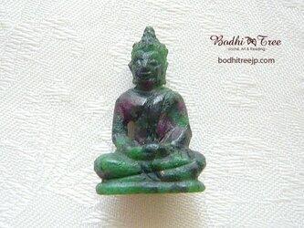 仏陀カービング(彫像)ルビーinゾイサイト-cの画像