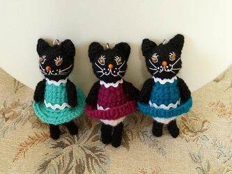 キラメ黒猫バッグチャームの画像