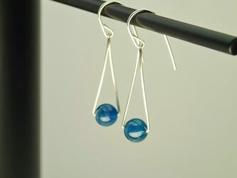 Silver925 half turn Pierced ( blue )の画像