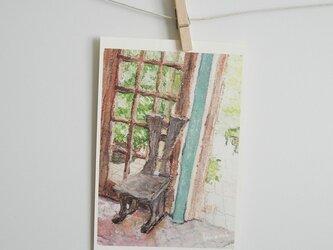木の椅子 / postcard 2枚組の画像
