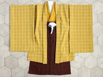 ◆羽織袴セット/ペンチェック/5歳【受注生産】の画像