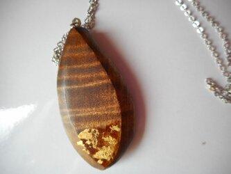 木のネックレス(とち)の画像