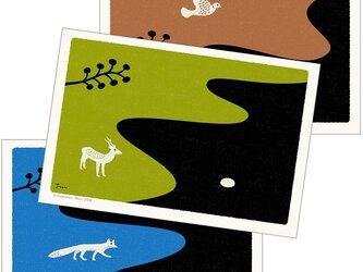 ポストカード こころ森-Eセット(3枚入)の画像