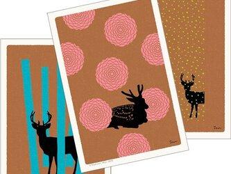 ポストカード こころ森-Aセット(3枚入)の画像