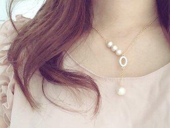 大人可愛い♡オーバルネックレスの画像