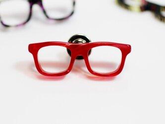 メガネラぺルピン(ウェリントン、Sサイズ、長針、赤)の画像
