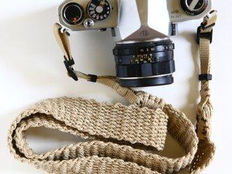 麻紐ヘンプカメラストラップWIDEの画像
