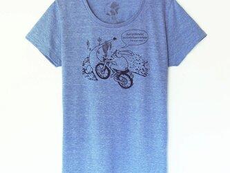 ウサギくんのTシャツ Lady's  vintage blue×navyの画像