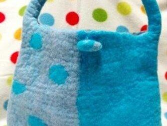 パッと春色!2色の羊毛バッグ♪の画像