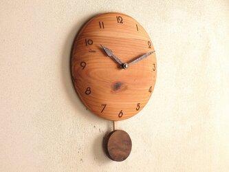振り子時計 杉材1の画像