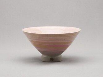 マーブル茶碗(ピンク3色黄白)の画像
