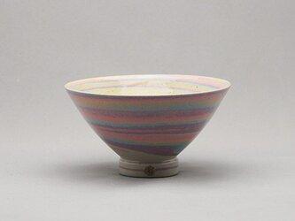 マーブル茶碗(ピンク紫青黄白)の画像