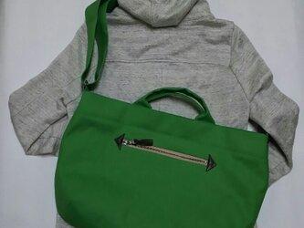 受注製作 倉敷帆布(11号薄地)3wayショルダーバッグの画像
