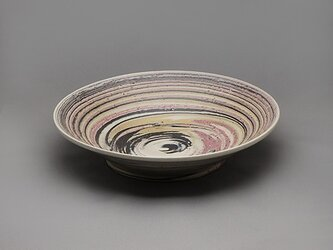 SOLDOUT!Marble大皿(ピンク黒黄白)の画像