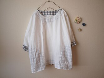 COTTON シャツ *ホワイト* size FREEの画像