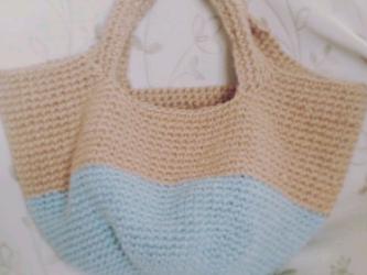 麻ひもバッグ* baby blueの画像