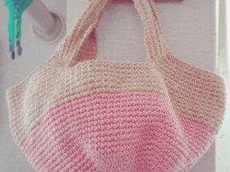 麻ひもバッグ* baby pinkの画像