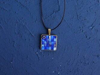 ガラスモザイクネックレス カダケスブルー(cadaques blue)の画像