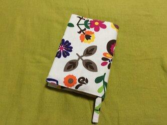 文庫本用ブックカバー flower&bird pinkの画像