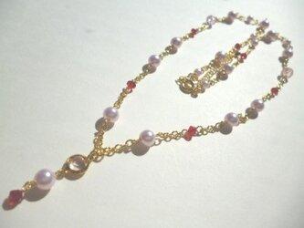 パール・カットガラスのネックレスの画像