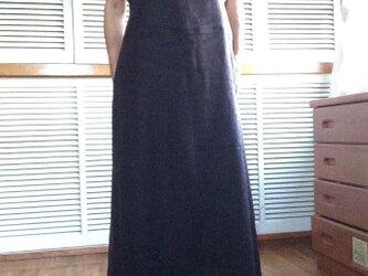 受注製作:マキシ丈のサロペットスカートの画像