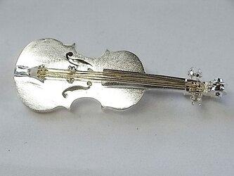 バイオリンSILVERブローチの画像