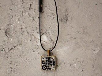 モザイクネックレス モノトーン・ドッドブラック8の画像