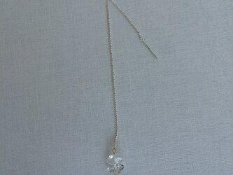 再販 ハーキマーダイヤモンドとチェーンのピアス(片耳用)の画像