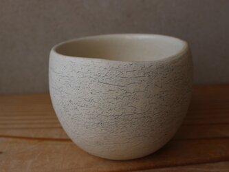 顔料青  育てるウツワ 揺ら フリーカップ(地シリーズ)白 陶土の画像