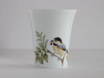 鳥のカップ~ヤマガラの画像