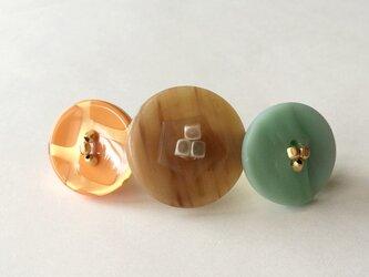 mixed button barrette  No.11の画像