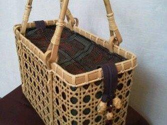 八ツ目編みバッグ・大の画像