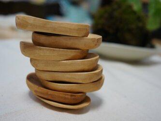 栃の木 豆皿の画像