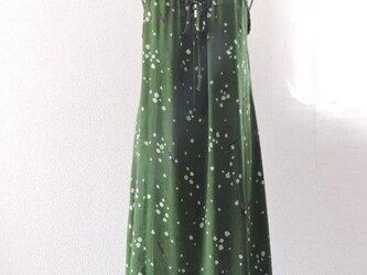着物リメイク:グリーンのキャミワンピースの画像