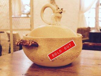ねこ吐息土鍋の画像