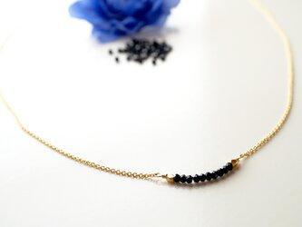 華奢なブラックスピネル Noir Spinel necklace N0004の画像